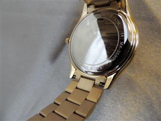 73e45f80e4a17 Michael Kors Women s Slim Runway Logo Gold-Tone Watch MK3590 ...